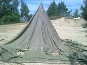 палатки брезентовые, тенты, навесы для отдыха и туризма
